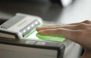 Проверка отпечатков пальцев