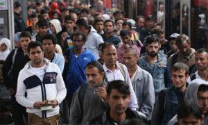 Беженцы на улицах