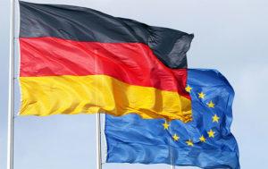 Флаг Германии и ЕС