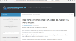 Residencia Turista Pensionado в Панаме