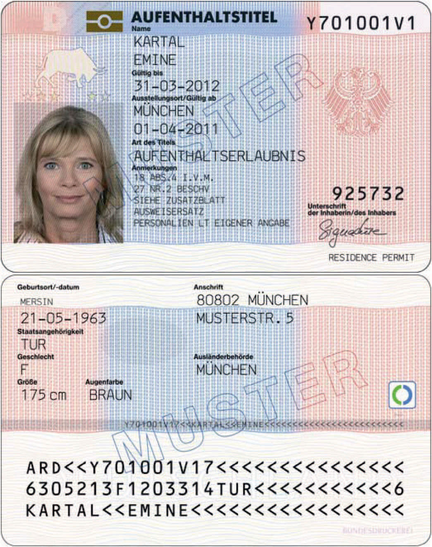 вид на жительство в германии документы