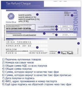Заполнение формуляра