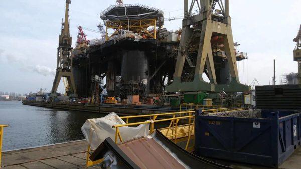 Судоремонтный порт в Гданьске