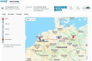 Автобус Eurolines из Берлина в Амстердам