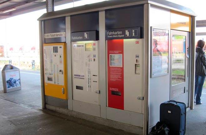 Автомат для покупки билетов в Германии