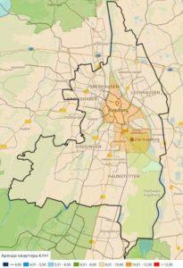 Цены на аренду квартиры в Аугсбурге