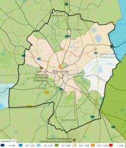 Стоимость аренды недвижимости в Ольденбурге