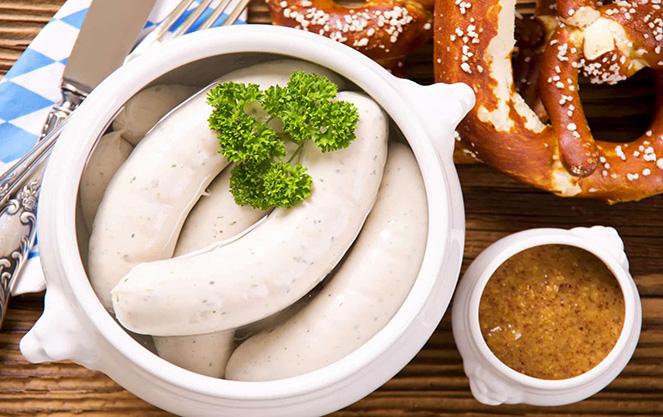 Белая баварская колбаса