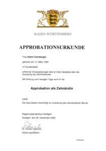 Approbation в германии