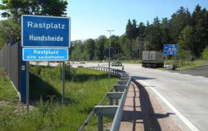 Сервисные зоны на дорогах германии