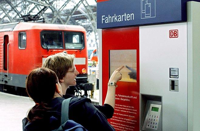 Автомат по покупке билетов в Германии