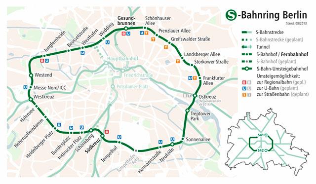 Кольцо городской берлинской электрички