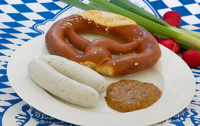 Состав баварских сосисок