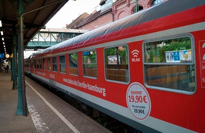 Поезд Берлин-Гамбург