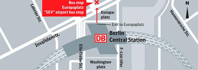 Центральный железнодорожный вокзал в Берлине