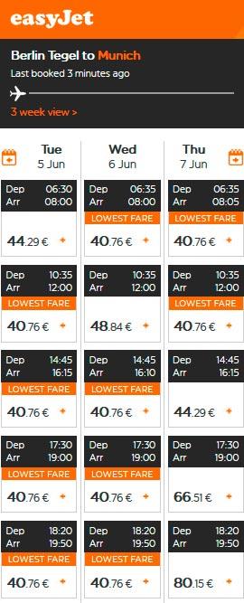 Расписание самолетов из Берлина в Мюнхен