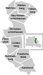 Район Лихтенберг (Lichtenberg) в Берлине