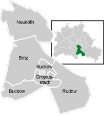 Район Нойкёльн (Neukolln) в Берлине