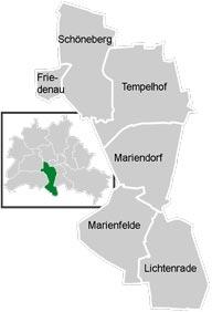 Район Темпельхоф-Шёнеберг (Tempelhof-Schoneberg) в Берлине