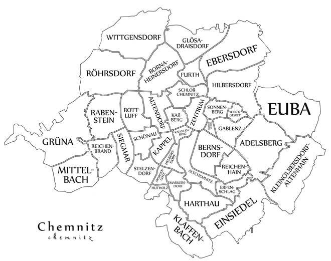 Административное деление Хемница