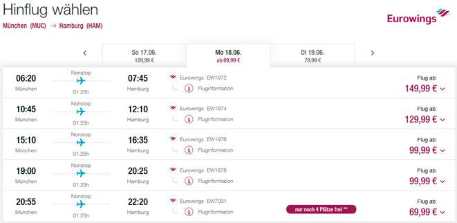 Расписание самолетов из Мюнхена в Гамбург