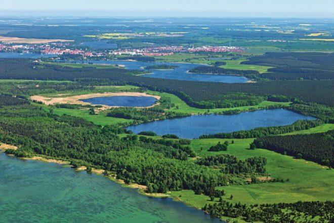 Расположение озера Мюриц