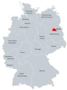 Берлин на карте Германии