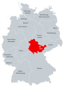 Йена на карте Германии