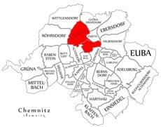 Районы Борна-Хайнерсдорф и Шлоссхемниц в Хемнице