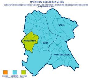 Плотность населения в Бонне