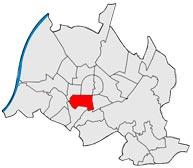 Район Зюдвестштадт в Карлсруэ