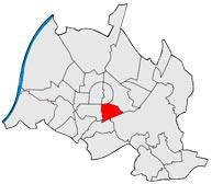 Район Südstadt в Карлсруэ