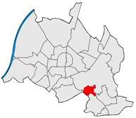 Район Wolfartsweier в Карлсруэ