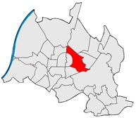 Район Остштадт в Карлсруэ