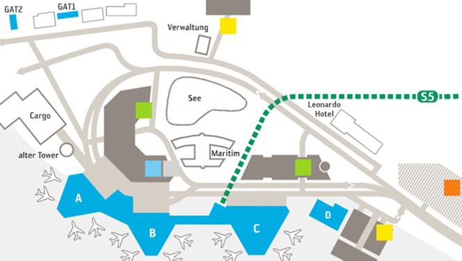 Схема терминалов в аэропорту ганновера