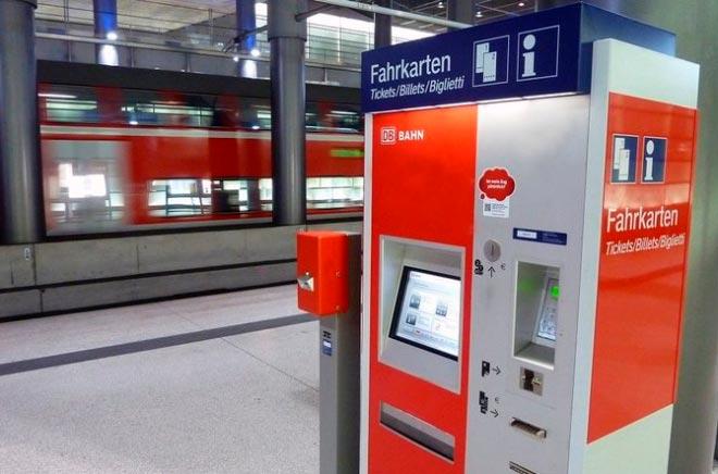 Терминал продажи билетов в Германии