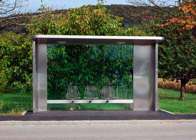 Автобусная остановка в Германии