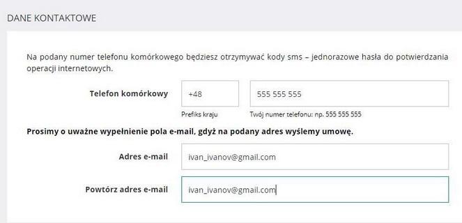 Счет в польском банке: контакты