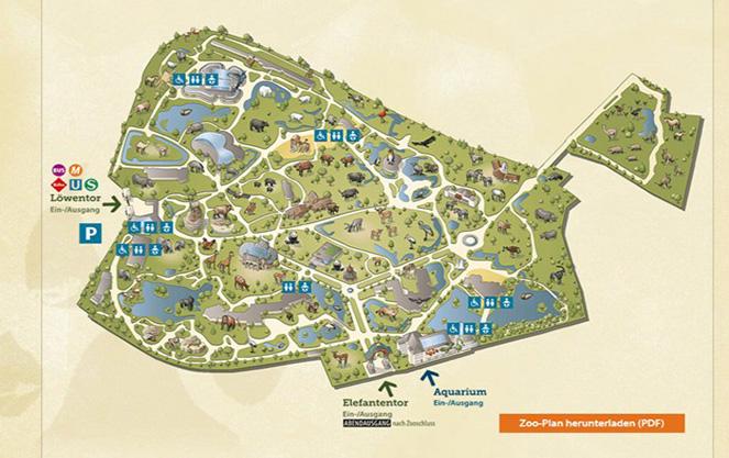 Карта берлинского зоопарка