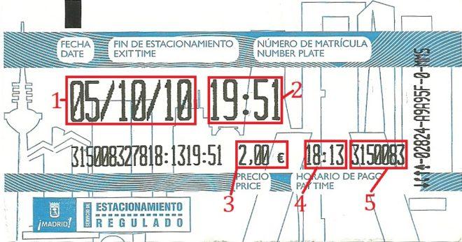 Пример квитанции в Испании