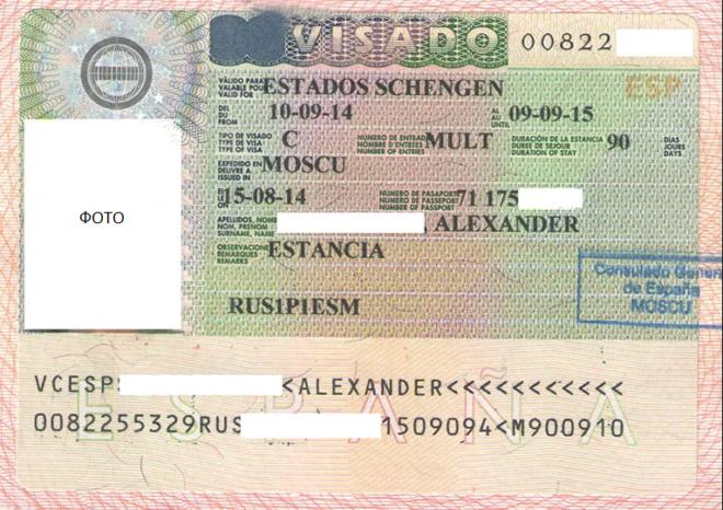 Пример гостевой визы