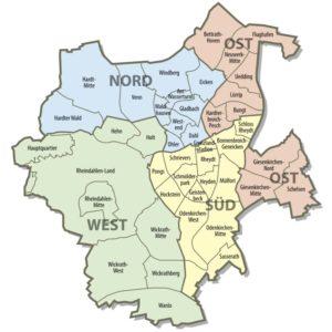Административное деление Менхенгладбаха