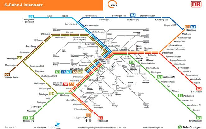 Поезда городского и пригородного сообщения в Штутгарте