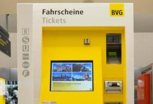 Автомат для продажи билетов по Берлину BVG