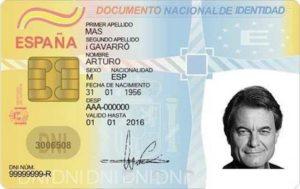 Временное удостоверение личности в Испании