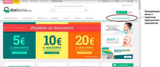 Онлайн покупка испанских лекарств