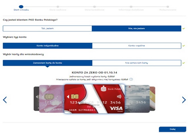 Заказать карту польского банку
