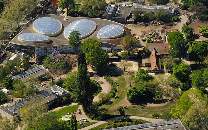 Зоопарк Франкфурта из высоты птичьего полета