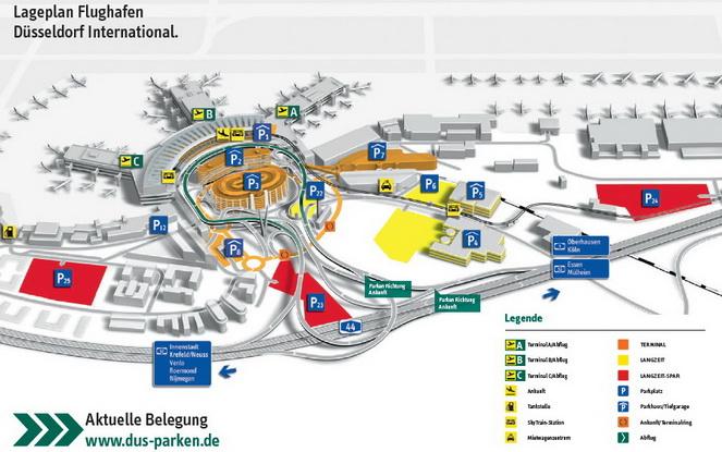 Схема международного аэропорта в Дюссельдорфе