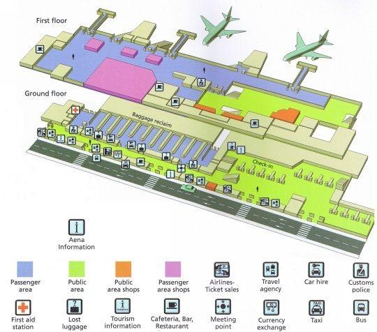 Схема аэропорта Ибицы